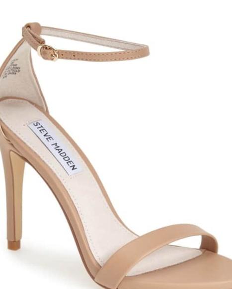 Steven Madden Nude Sandals Heels Shoes